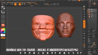 Anonymous Mask For Figurine - Zbrush Timelapse