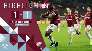 HIGHLIGHTS | WEST HAM UNITED 1-1 LIVERPOOL