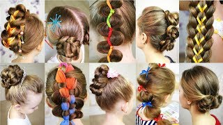 10 cute 5-MINUTES hairstyles for busy morning!  Quick & Easy SUMMER Hairstyles!
