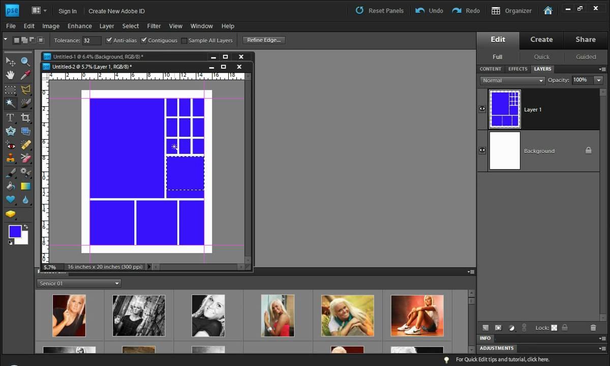 Photoshop Elements Photo Collage Technique Youtube