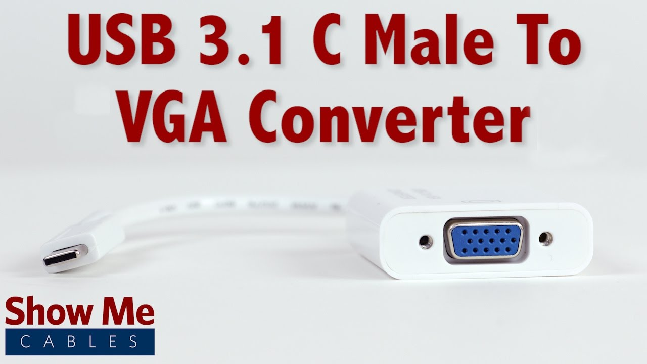 hight resolution of easy to use usb 3 1 type c to vga converter 23 226 003