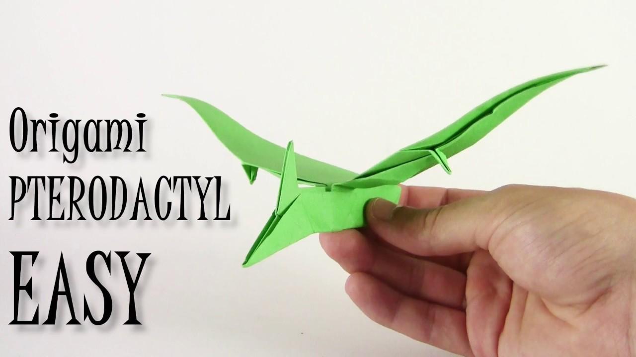 Origami Pterodactyl EASY Dinosaur