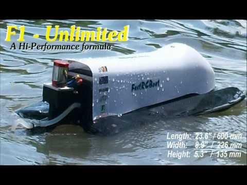 F1-Unlimited, a hi-performance Formula RC boat. Part 1/1