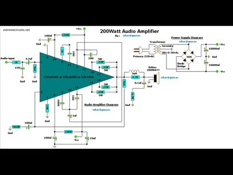 100w subwoofer amplifier circuit diagram 2007 honda civic fuse box circuits youtube
