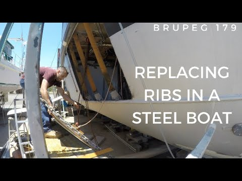 Replacing Ribs in A Steel Boat - Project Brupeg Ep. 179