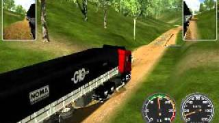 Haulin Scania com rodo trem na fazenda BH