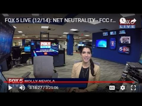 FOX 5 LIVE (12/14): NET NEUTRALITY - FCC repeals protections today in 3-2 vote