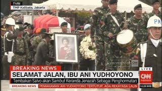 Prosesi Pemakaman Jenazah Ani Yudhoyono di TMP Kalibata