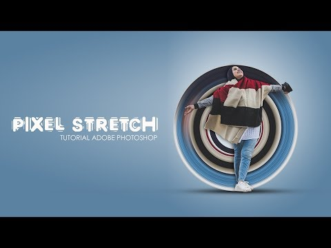 How to create a  Pixel Stretch with photoshop tutorial thumbnail