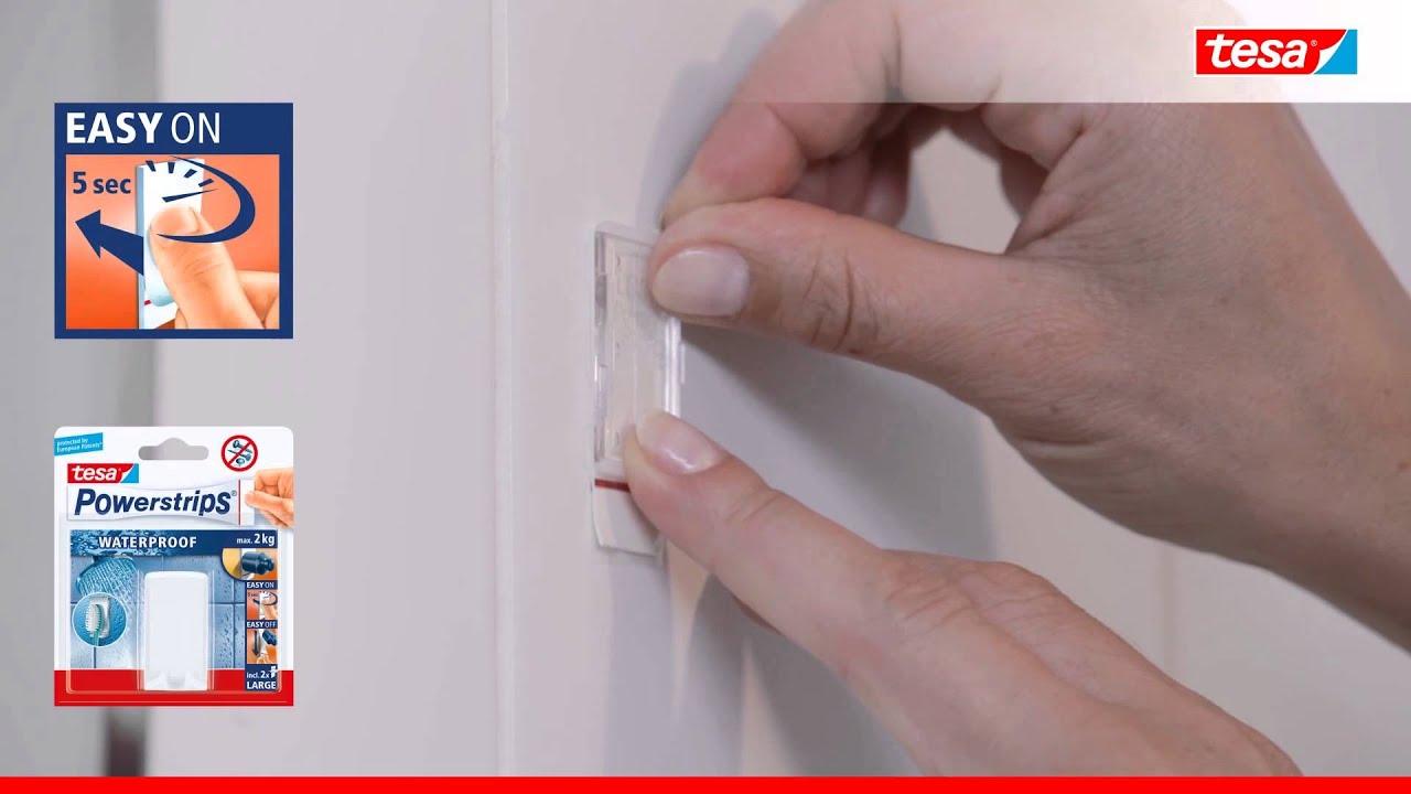 tesa powerstrips waterproof soporte cepillo de dientes sin perforaci n tornillos o clavos. Black Bedroom Furniture Sets. Home Design Ideas