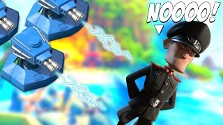 Boom Beach | SHOCK BLASTERS destroy HAMMERMAN! (+All Grenadier Attacks!)