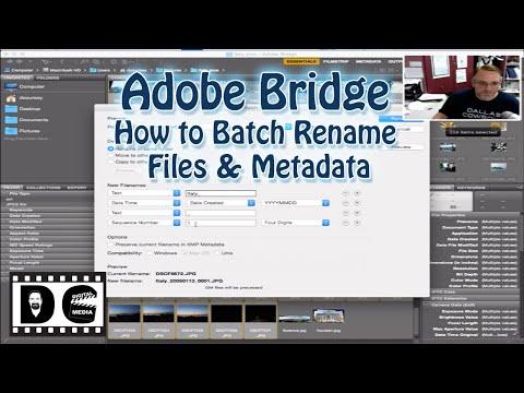 Adobe Bridge: How to Batch Rename files and Metadata