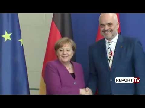 Report TV - Konferenca e Kryeministrit Edi Rama me Kancelaren gjermane Angela Merkel