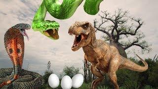 ЛОВУШКА ДЛЯ ДИНОЗАВРОВ!!! Ядовитые змеи против тираннозавра.КОВАРНЫЙ ПЛАН КАРНОТАВРА