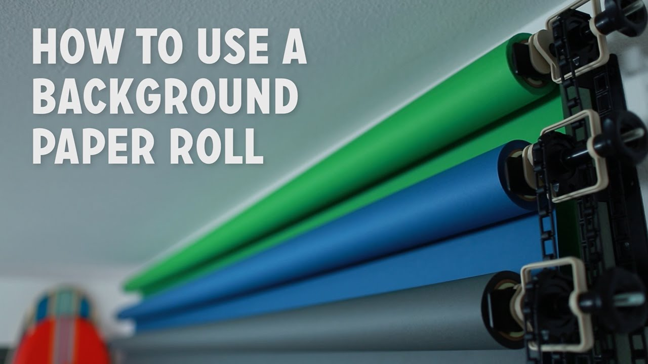 how to use a background paper roll youtube