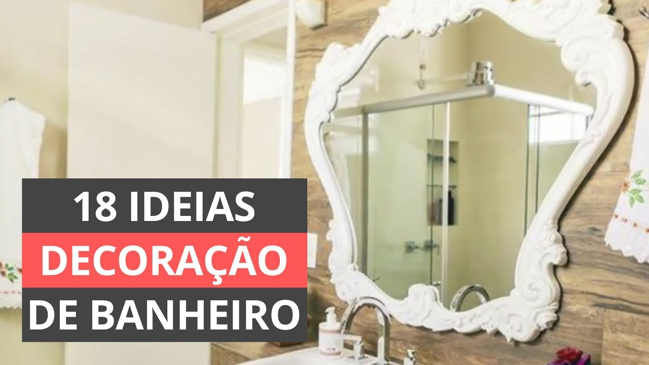 decora o de banheiro 18 dicas gastando pouco youtube. Black Bedroom Furniture Sets. Home Design Ideas