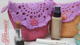 Video Crochet    Tutorial Tas Kecil Cantik (Resleting + Furing) - Make Up Mini Bag download MP3, 3GP, MP4, WEBM, AVI, FLV Juli 2018