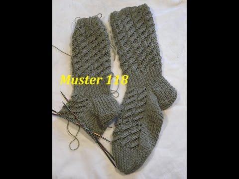 Muster 118 Ajourmuster  für Socken -Handschuhe -Mütze* Stricken mit Nadelspiel