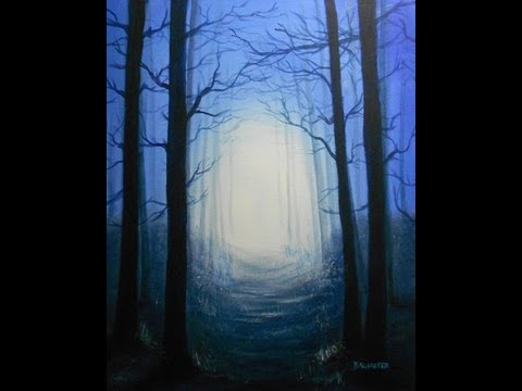 How To Paint A Twilight Forest Scene
