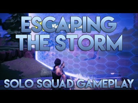 Escaping The Storm  Fortnite Solo Squad Gameplay  Ninja