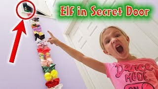 Prankster Elf on the Shelf Climbs JoJo Bow Ladder to Secret Door! Jinx Has Hidden Something!
