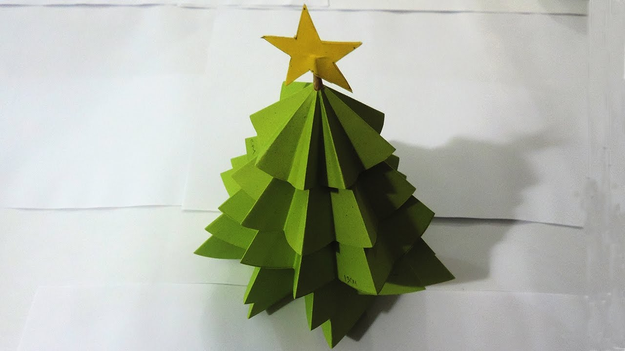 How To Make Christmas Tree From Paper By All For Kids Color TV - YouTube
