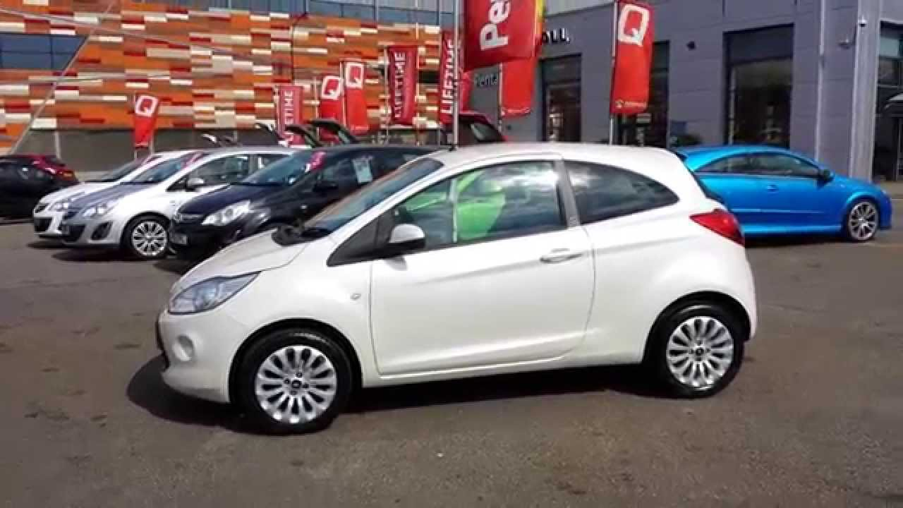 2011 ford ka 1 2 zetec in pearl white youtube. Black Bedroom Furniture Sets. Home Design Ideas