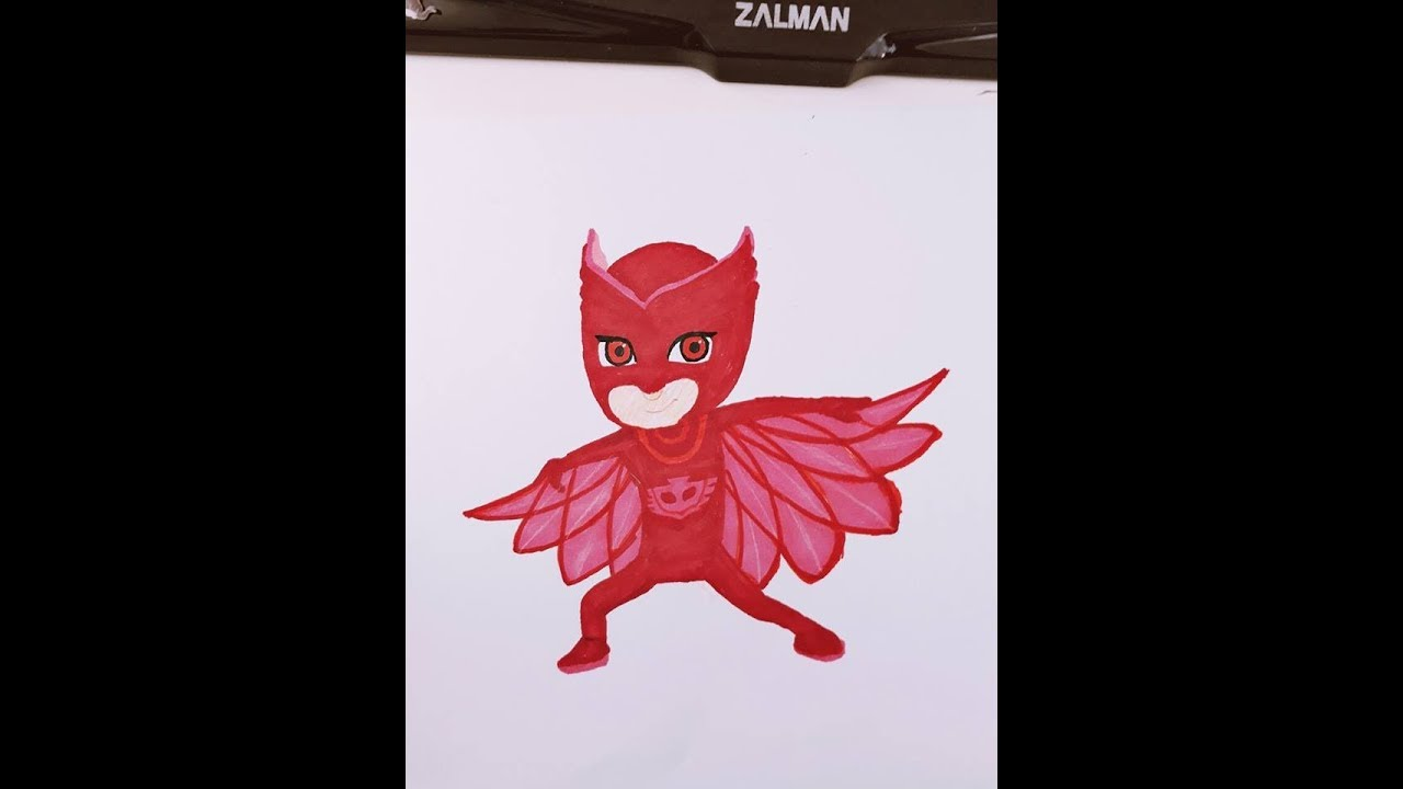 How To Draw Pj Masks Owlette Amaya Pijamaskeliler Baykus Kiz
