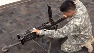 M2 .50 Cal Machine Gun - Step by Step Headspace/Timing