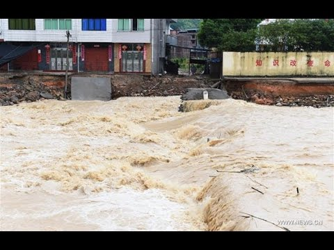 Typhoon #Nepartak Brings Terrible damage , Floods to  #Minqing, #Fujian east China Town