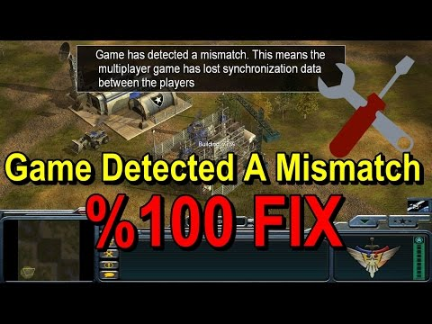 C&C Game Detected A Mismatch %100 FIX - Oyun Rehberi #5
