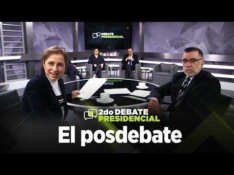 Así fue el Posdebate con René Delgado y Carmen Aristegui