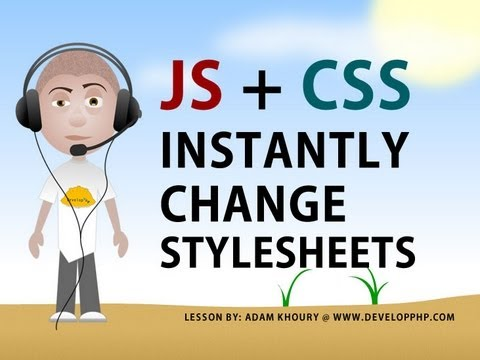 Change Style Sheet Using Javascript Tutorial CSS Swap Stylesheet