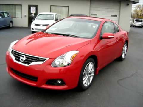 Nissan Altima 3.5 >> Sexy Red 2010 Nissan Altima Coupe 3.5SR video Leather and ...