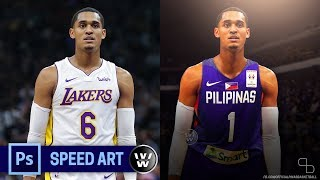Lakers Jersey to Gilas Jersey | Jordan Clarkson | Photoshop Jersey Swapping Speed Art