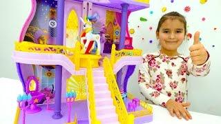 Литл Пони - Замок принцессы Селестии. Игрушки Пони - Мультики для девочек