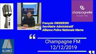 Retraites policiers Interview François Swiderski Secrétaire administratif Marne Alliance police