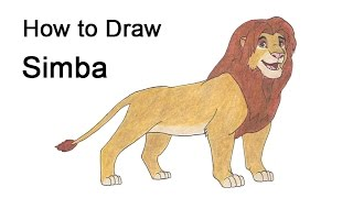 How to Draw Simba (Grown Up) from the Lion King