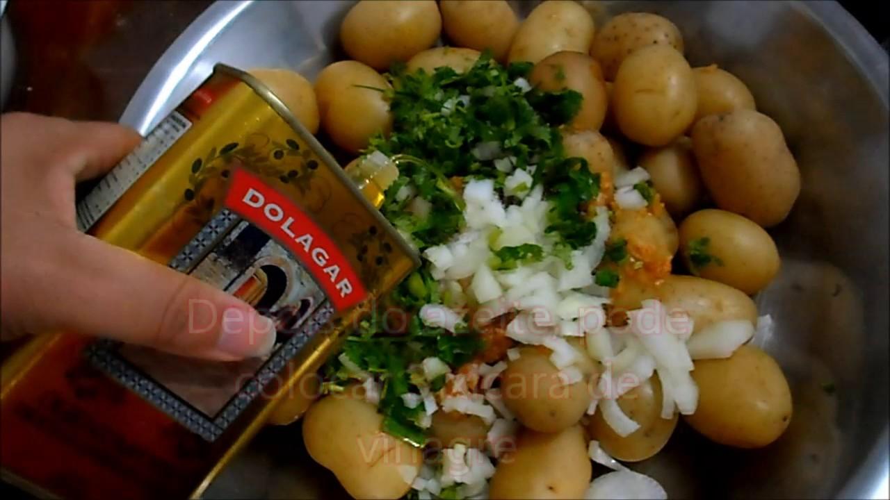 Como fazer batata em conserva