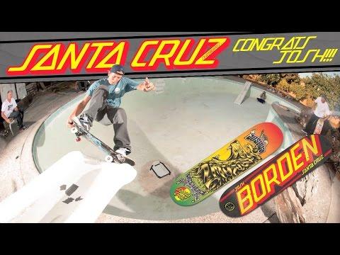 Josh Borden is Santa Cruz Skateboards Newest Pro!