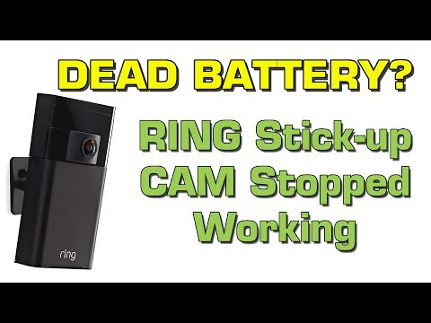 RING Security Cam stopped working - DEAD BATTERY? Ring Chat  helped