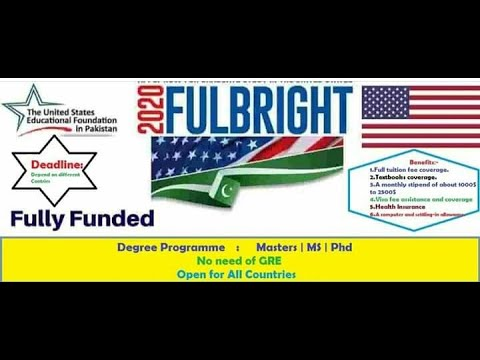 SU full bright 🔆 scholarship 2021 fully funded from US ...