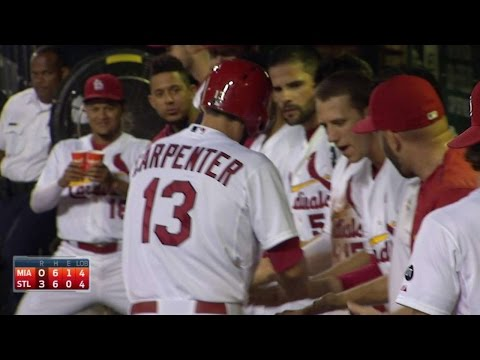 MIA@STL: Carpenter adds insurance with solo homer