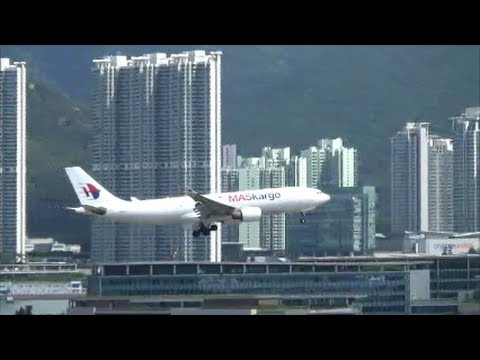 Hong Kong Airport Plane Spotting. Bright and Clear Day, Great View, Many Flights