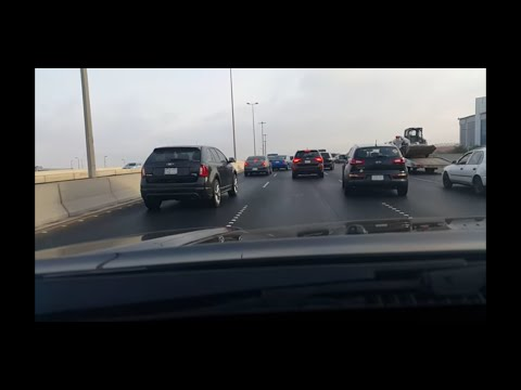 Driving to corniche. Madina highway Jeddah HD