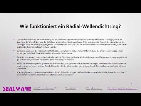 Radial-Wellendichtring - Wellendichtring - Wellendichtung - Simmerring