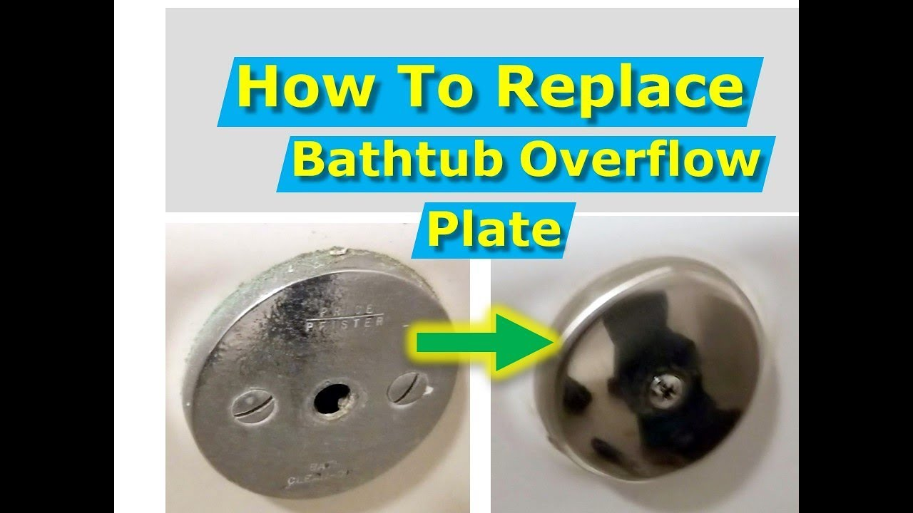 how to install a new bathtub overflow plate assembly