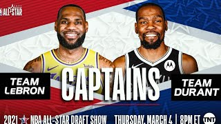 2021 NBA All-Star Game Starters! Dunk Contest At Halftime!
