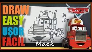 CUM SA DESENEZI un CAMION - MACK / HOW TO DRAW MACK the TRUCK from CARS DISNEY
