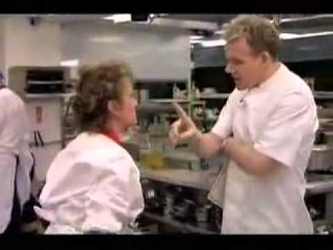 Gordon Ramsay misses a slap in the face